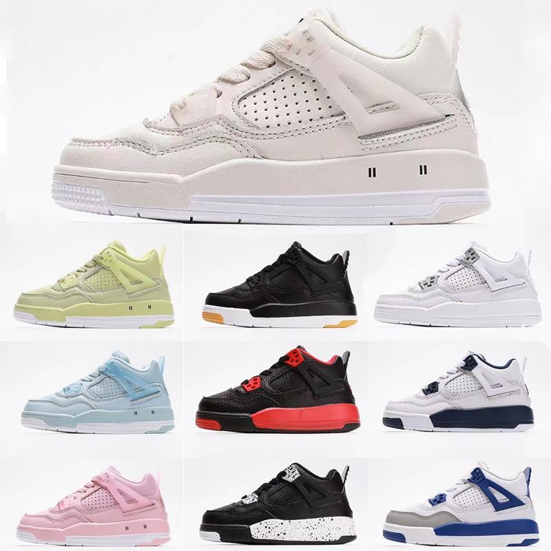 Conjunto firmado alto OG 4S niños zapatos de baloncesto Chicago 4 Infant Boy Girl Sneaker Toddlers Fashion Baby Trainers Niños Calzado