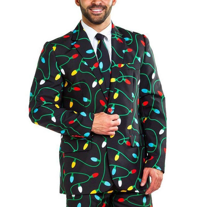 Abiti da uomo Blazer Blazer Natale Blazer Cappotto Santa Xmas Suit Festival Festival Moda Giacca Outwear Abiti casual