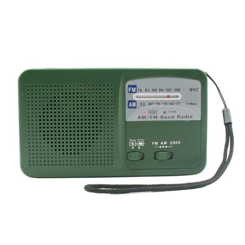 Portable Am FM Dynamo Radio Avanzamento della mano di emergenza della radio di emergenza con la luce del LED del LED di 500 mAh per il campeggio all'aperto