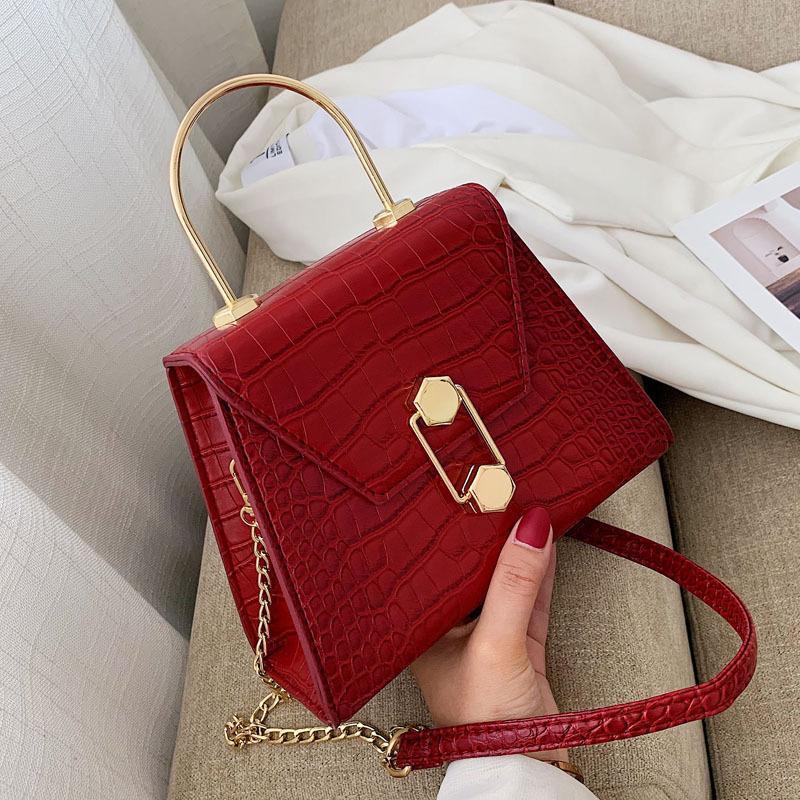 Sac à rabat de haute qualité Sac de sacs de luxe de luxe Sunset Cuir original Femmes Sacs à bandoulière Mode Moyenne Bandbody Sac