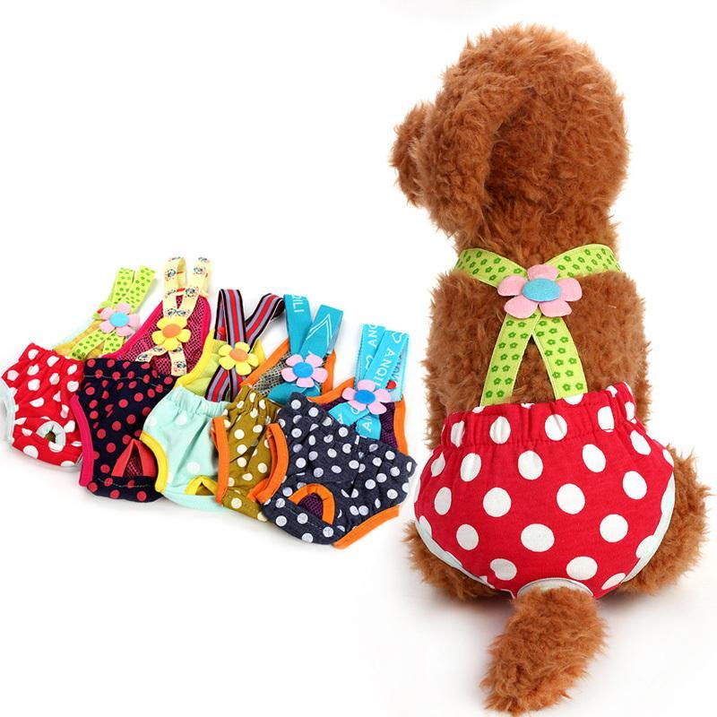 Correa de mascotas Pantalones fisiológicos siameses Hygiene Teddy Menstrual PEMALE Suministros para perros XS-XL