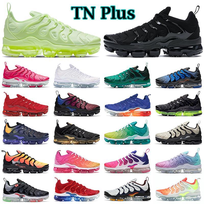 2021 air vapormax plus shoes scarpe da corsa da uomo scarpe da ginnastica da donna Creamsicle Rainbow White Red Game Royal Sunset Wolf Grey sneakers da uomo sport all'aria aperta