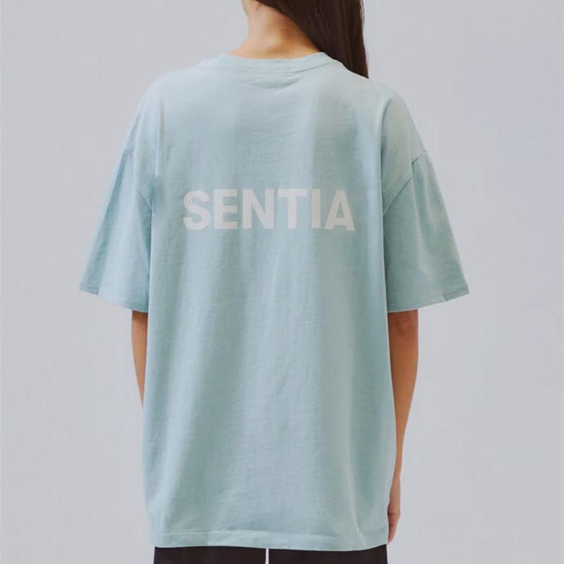 2021 Europa EUA Primavera Verão 6ª Temporada Tais Camiseta BackSide 3M Logotipo Reflexivo Homens Mulheres Manga Curta Algodão Tshirt