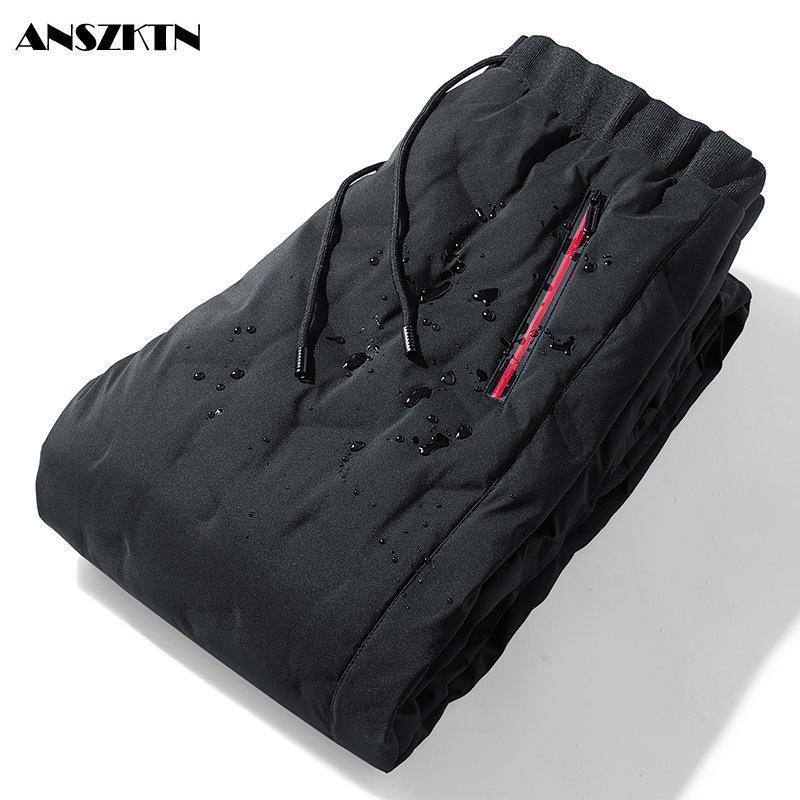 겨울 Anszktn 2021 다운 자켓 남성 바지 남한 남한 중간 및 노인 냉장 팬츠에 대한 슬림 열