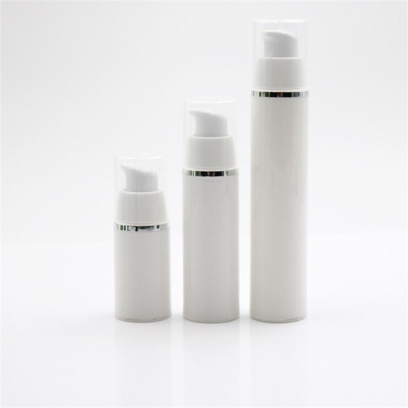 15 30 50ml 빈 재충전 가능한 흰색 고급 Airless 진공 펌프 병 플라스틱 크림 로션 컨테이너 튜브 여행 크기 1340 v2