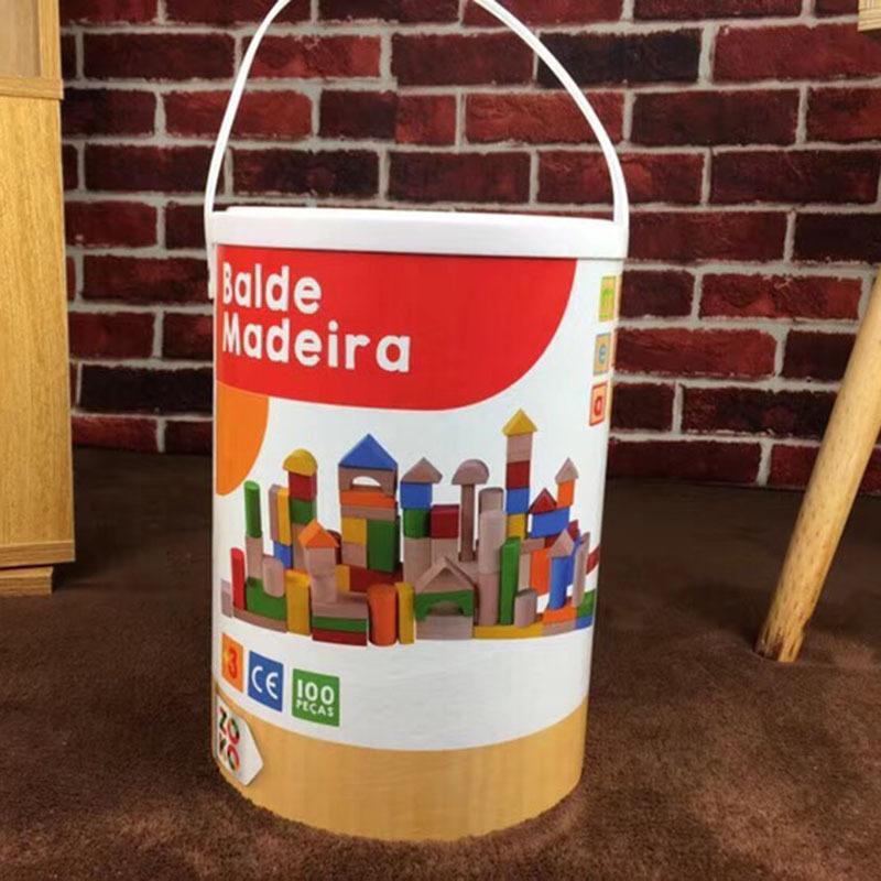 100 cápsulas bloques niños juguetes puzzle pellets de madera ensamblaje bloque niños y niñas bebé kindergarten regalos padre-niño interacción