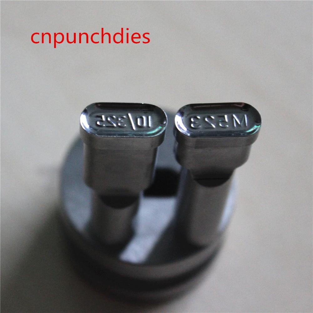 523 Numero Numero Candy Tablet Cuscinetto Hard Tool Parts Strumenti di pressa in acciaio Punch TDP Die Stampi Stampi Stampi Set Personalizza per la macchina TDP0 / 1.5 / 5