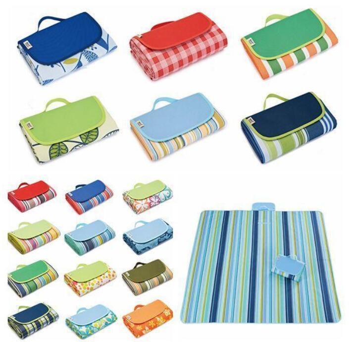 Picnic Camping Pads Portable Folding Beach Mat Oxford Cloth Sleeping Mats Outdoor Pad 21 Colors 145*180cm YL597