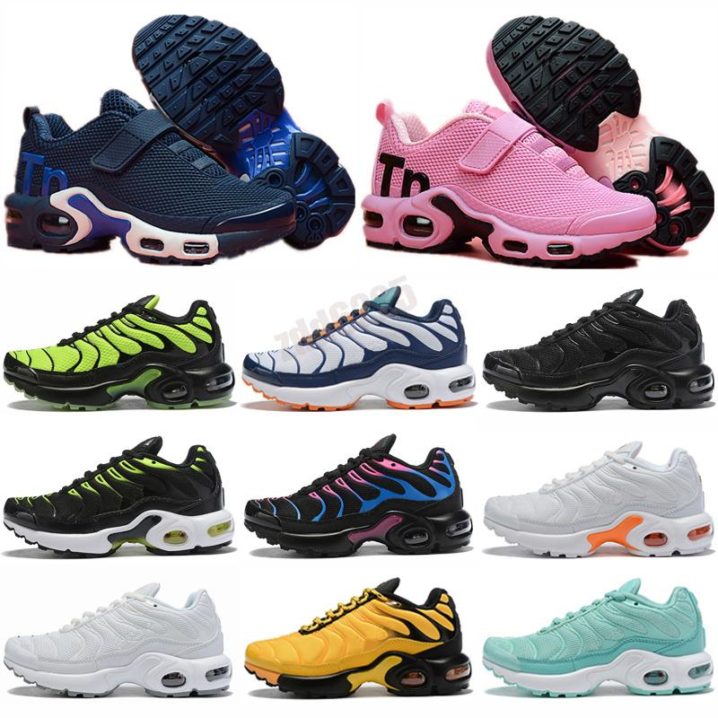 Male Tn Plus Running Shoes Kids SE Ultra Mens Stripes White Blue Sneakers Retro Tns Classic Outdoor Trainers 28-35