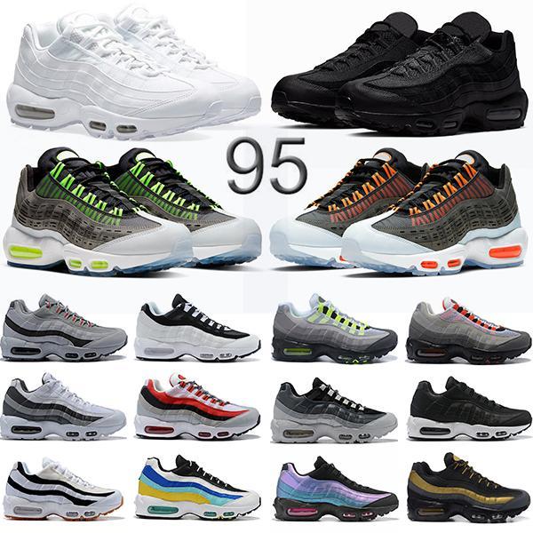 Nike air max 95 Los productos con descuento de los zapatos corrientes triple blanco negro de neón solares rojas para hombre Formadores diseñador de moda zapatillas
