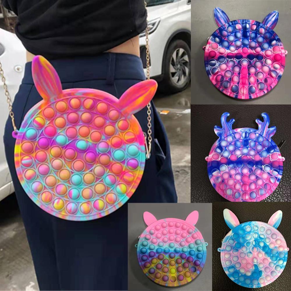 Fidget giocattoli sensoriale moda trucco borsellino bolla bolla arcobaleno anti stress educativo bambini e adulti decompressione giocattolo ragazza regalo sorpresa