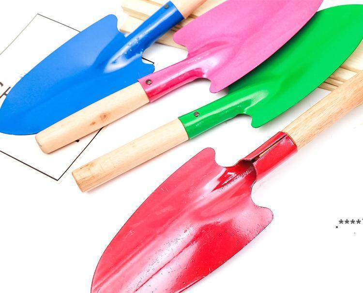 Бытовые садовые лопаты растения с деревянной ручкой железа шпатель садоводство в горшках гаджеты пляж fwf6708