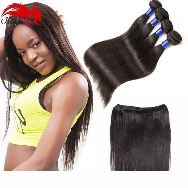 Malaysian Straight Hair Bündel natürlich schwarz 1b # weben menschliches remy haarbündel malaygin haar gerade 4 bündel gerade