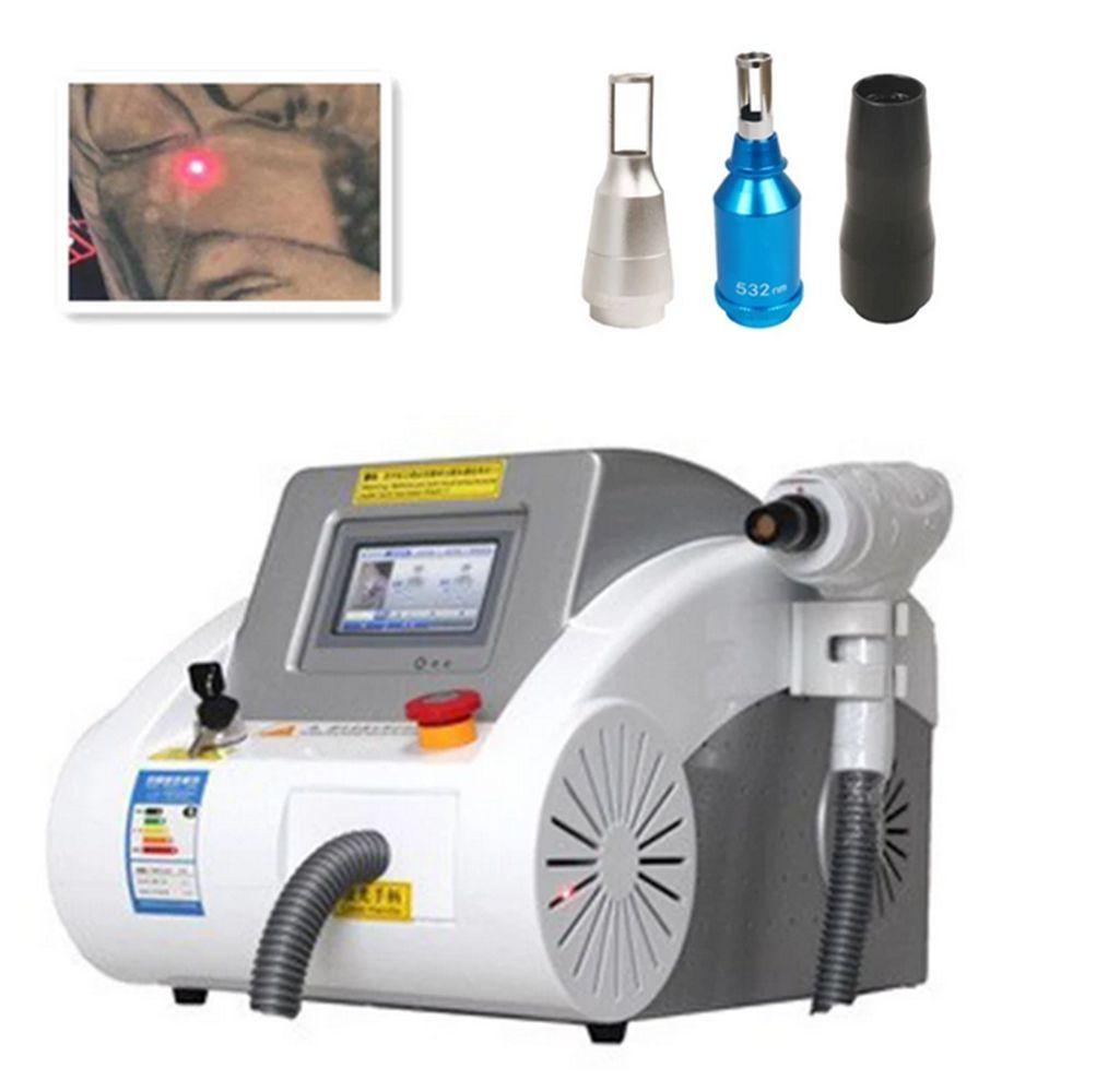 Портативный Q-Switched ND YAG Лазерная татуировка Удаление машины для удаления татуировки Бровей Пигмент Удалить кожу отбеливателя красоты Оборудование без шрама