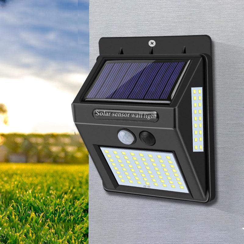 1 PCS Abeto Sensor Lâmpada de parede à prova d 'água Lâmpada de água solar para decoração de jardim de Natal