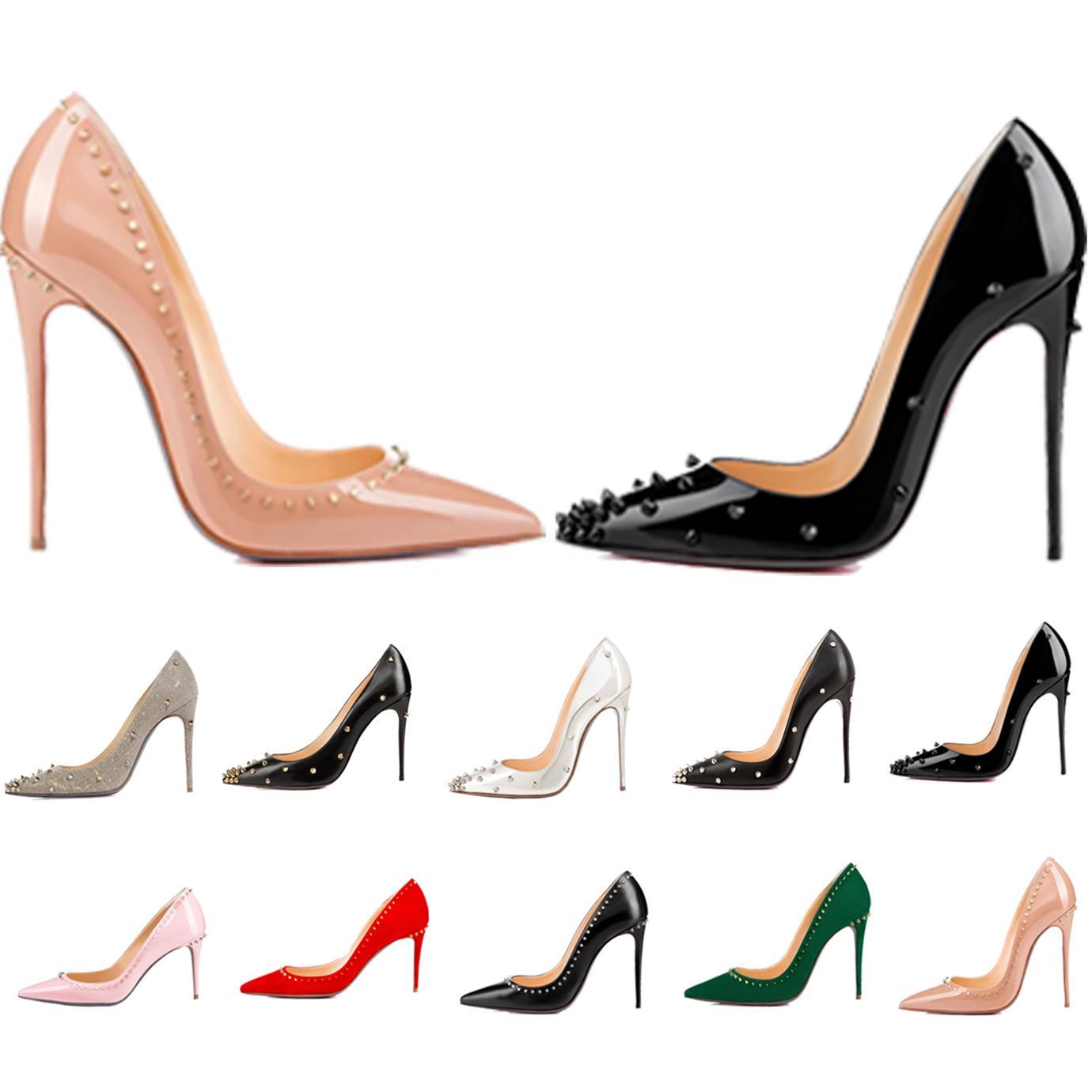 Mulheres Vestido Sapatos Vermelho Bottom High Heavens Womens Luxurys Designers Genuíno Bombas de Couro Senhora Sandálias Bottoms com plataforma de caixa
