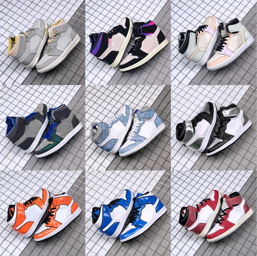 أحذية كرة السلة الرجال النساء 1 ثانية عالية og 1 الجامعة الأزرق hyper الملكي فضي تو لندن رجل المدربين أحذية رياضية