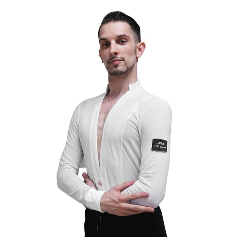 Lateinische Tops Dance Hemden Männer Rumba Cha Samba Tanzwettbewerb Leistung Tragen Sie Männer lässig
