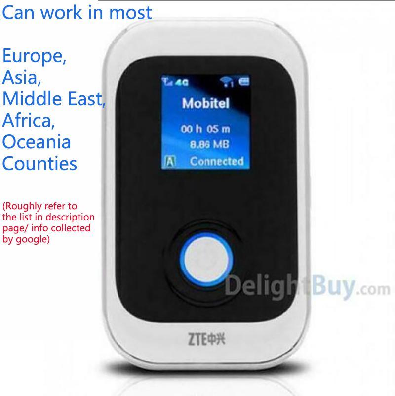 Разблокированные 100 Мбит / с ZTE MF91 4G LTE Беспроводной маршрутизатор Модем Hotspot Mobile WiFi