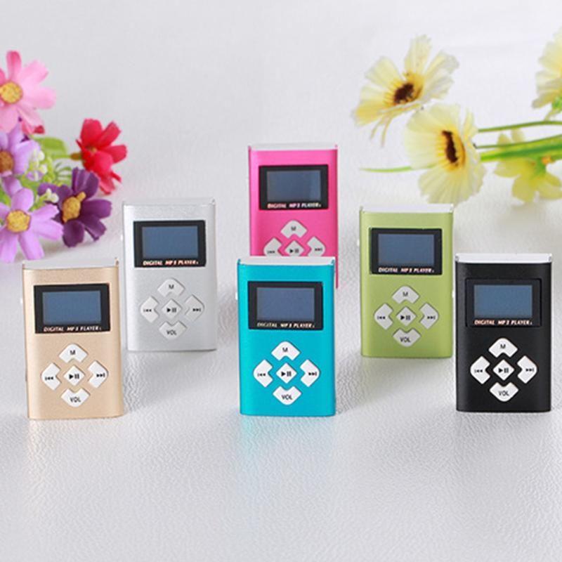 & MP4 Players Portable MP3 Music Player Retro Digital 1.2 Inch Monochrome Screen Mini Supports TF Card Sport Walkman For Child