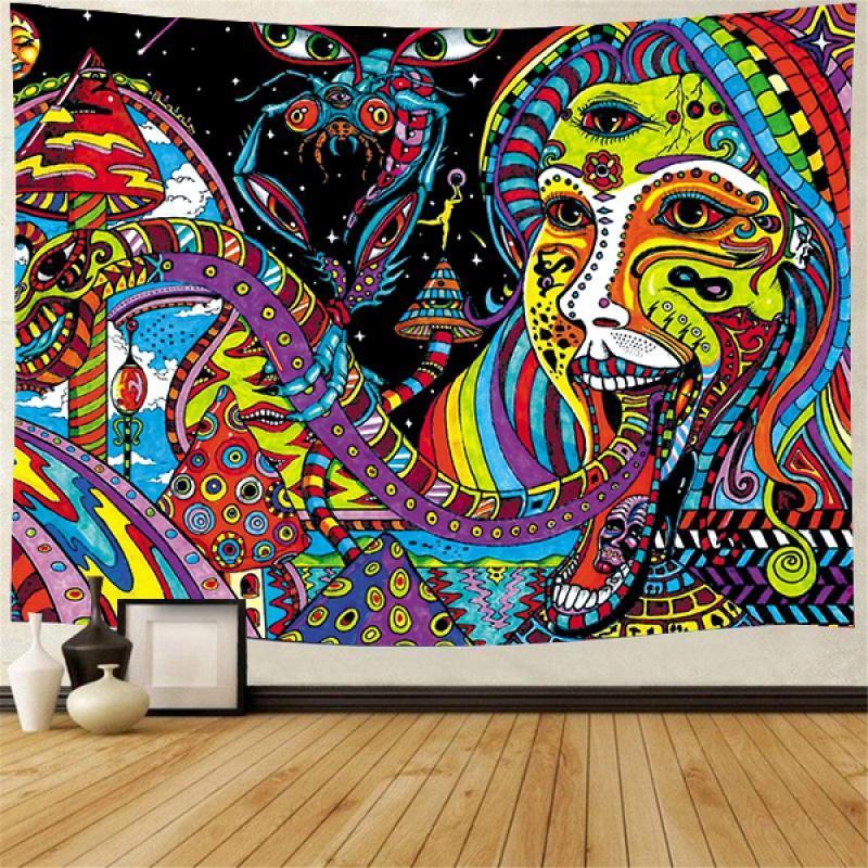 نسيج جدار الفن تريب نسيج مجردة الوحش البوهيمي العربية الخيال شنقا ديكور المنزل خلفية 95x73