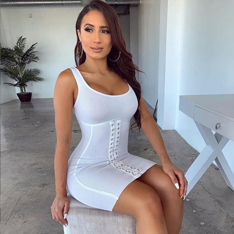Kadınlar Zarif Pamuk Nervürlü Örme Bodycon Turuncu Tank Elbise Lounge Sevimli Korse Bandaj Elbise Tatil Kıyafetleri