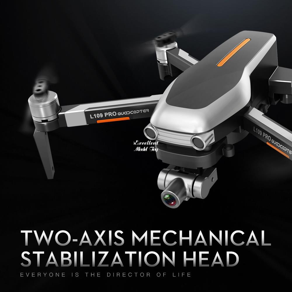 L109 Pro 4K-Kamera 5G Wifi-Drohne, intelligente UAV, 2-Achsen-Gimbal-Anti-Shake, bürstenloser Motor, GPS-optische Fließposition, Smart Follow, vs SG906PRO F11, 2-1