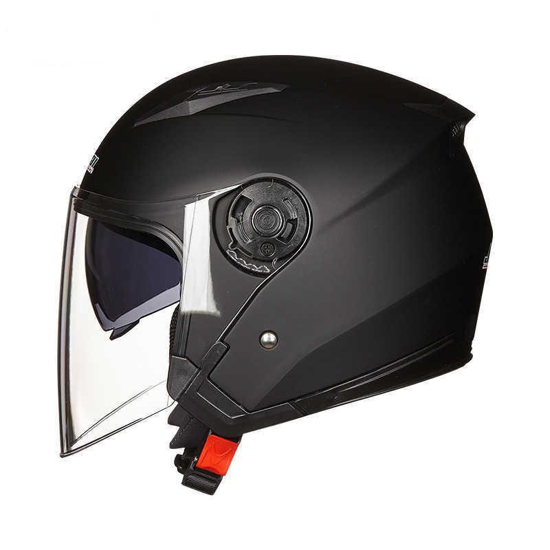 안티 안개 헬멧 오토바이 더블 렌즈 오토바이 헬멧 하프 모터 카쉬 헬멧 모터 사이클 라이딩 헤드 보호 Gatgets Q0630