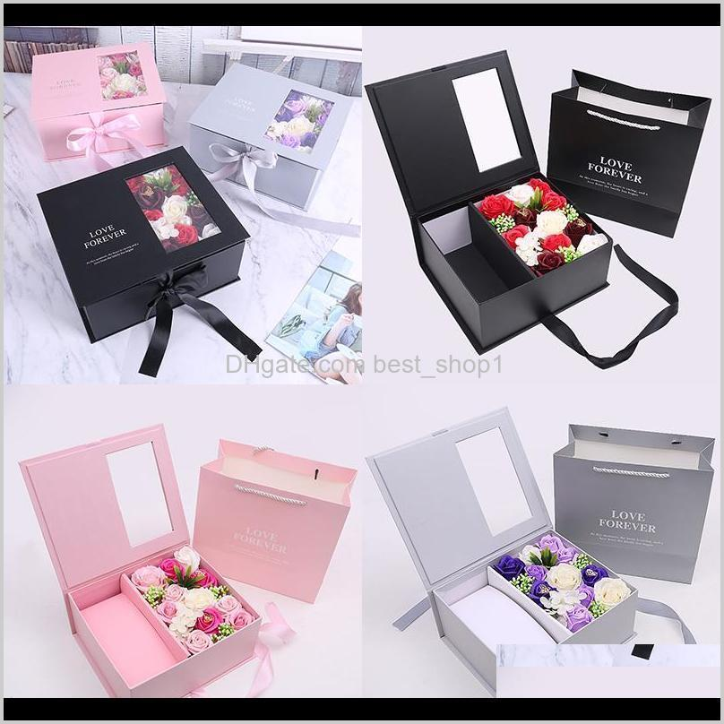 Packing Office School Business Industrial Drop Delivery 2021 Jewelry Packaging Artificial Flowers Valentines Gifts Mothers Day Christmas Soap