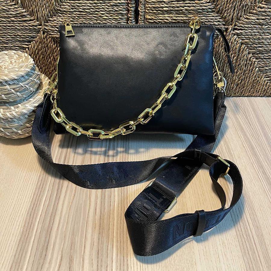 2021 تنقش منتفخ الجلود سلسلة حقيبة كوسين pm المرأة حقيبة يد أكياس الكتف crossbody حزام محفظة محفظة