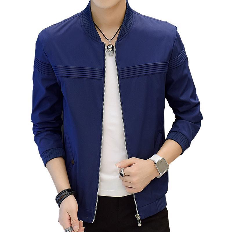 Giacche da uomo Arrivo Moda Slim Fit Cappotti Uomo Solid Leisure Stand Collar Baseball Entibal Aperto Giacca Outwear