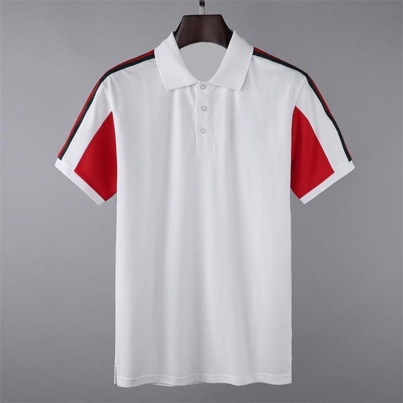 2021 Tee мужские Polos бренд дизайн рубашки лето улица носить Европу мода мужчины высокого качества хлопчатобумажная футболка повседневная короткая рукава # 6801