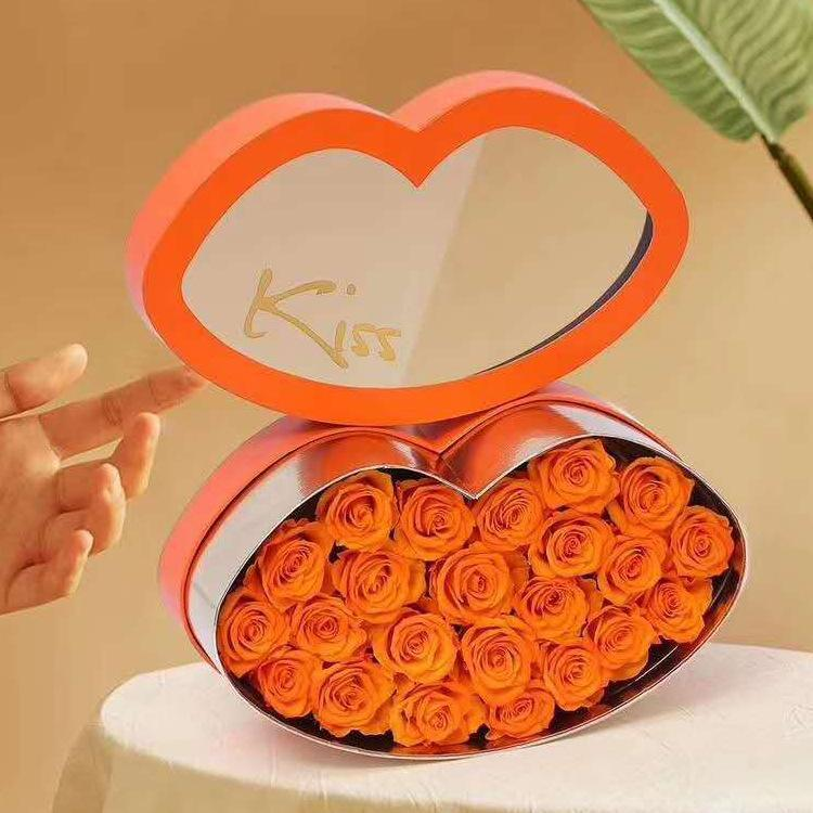 Kiss Lip Box Creative Surprise Gift Flower Shop Packaging Valentine's Day Birthday Party Favor Decoration Wrap