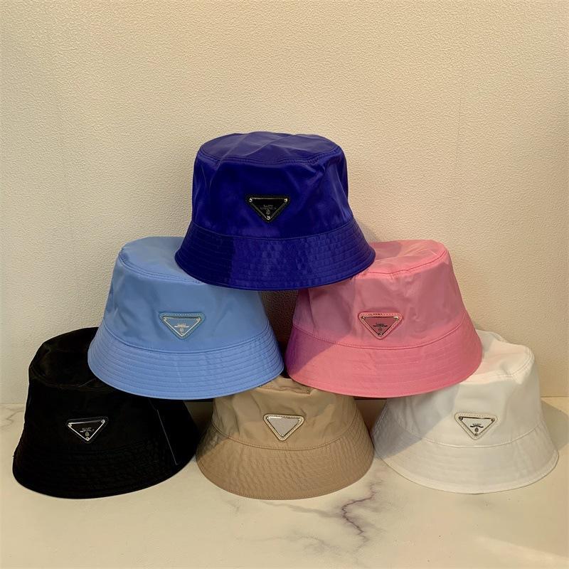 2021 Женщины Рыбацкие шапки Перевернутый треугольник буквы повседневные модные уличные бассейна шляпа мужчины Японский солнцезащитный крем