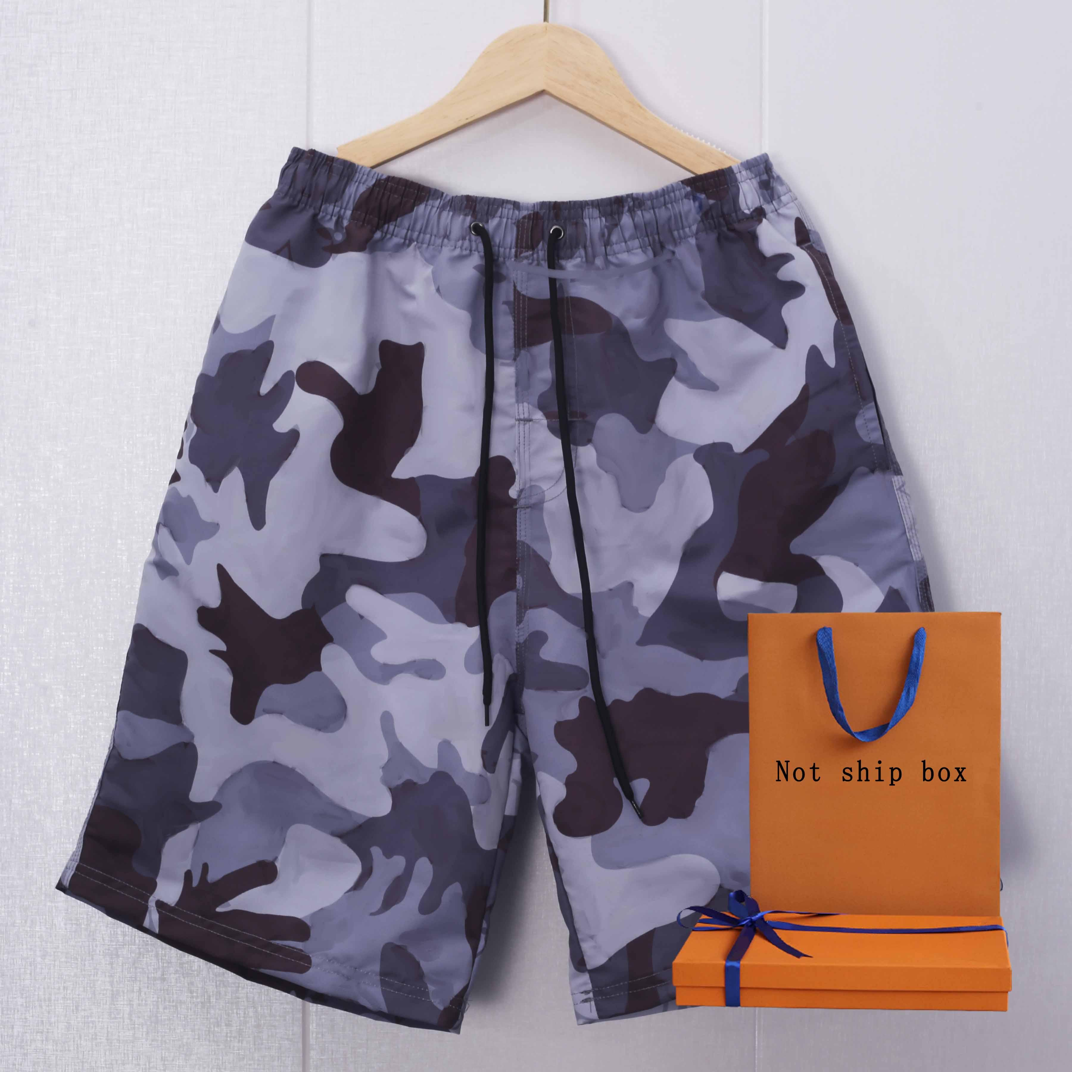 Masculino Swimwear 2021 Summer Beach Shorts Mens Swimpants Clássico Carta Padrão Contraste Color Adolescente Board Shorts
