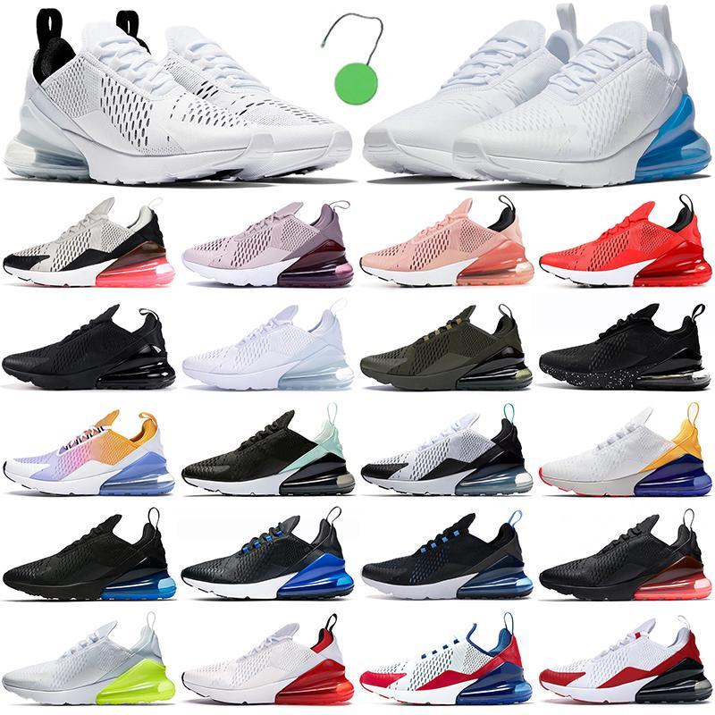 air max 270 airmax 270s running shoes 270 أحذية ركض رجالية في الهواء الطلق أحذية رياضية للرجال والنساء باللون الأزرق ثلاثي أسود وأبيض