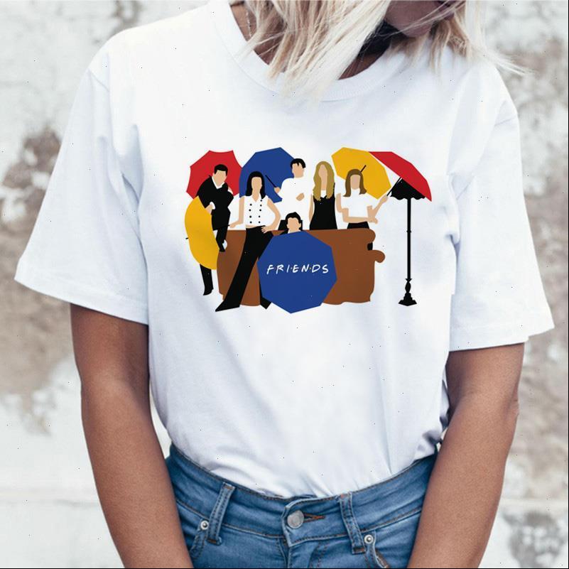 Frauen Tops Lustiges T-Shirt für weibliche T-Shirt Freund Brief Druck Tshirts Sommer O Neck TV-Serie Cartoon T-Shirts