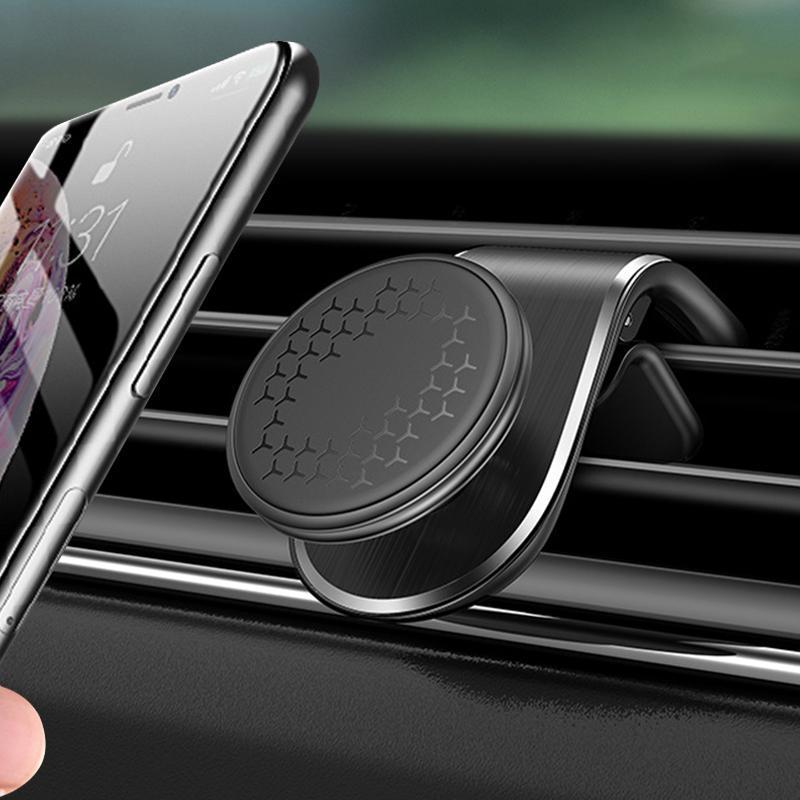 Titular do telefone do carro para smartphone Universal Air Tomada Metal Montagem Magnética Navegação GPS Mini Lightweight Bracket Stand Cell Sount
