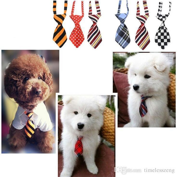 Fashion polyester silk dog headdress necktie ddjustable nice bow cat tie pet supplies 27 color wholesale free ship WV05