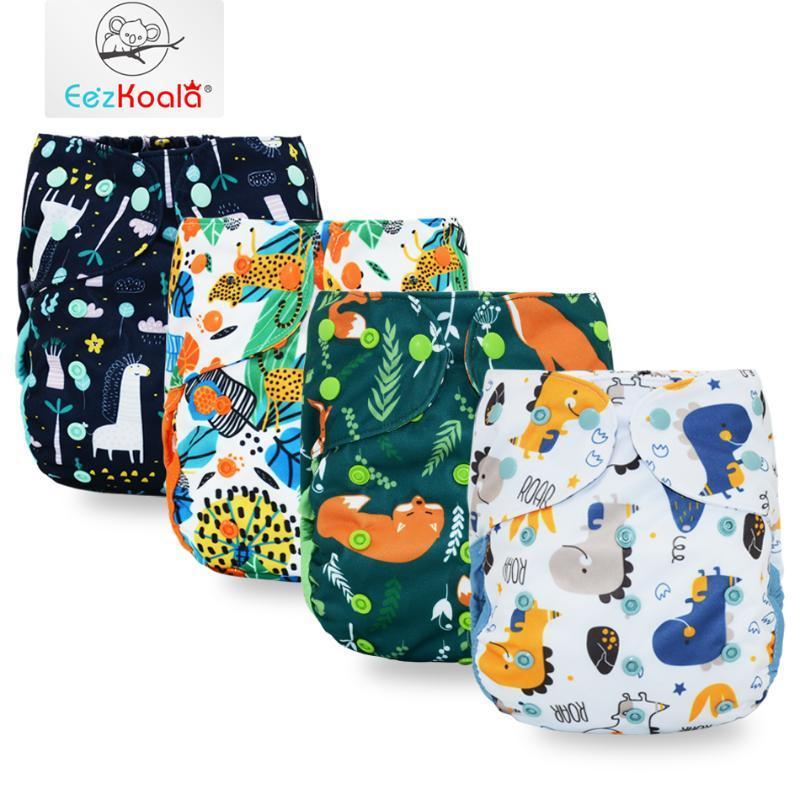 Couches en tissu Eezkoala Big XL Couverture de couches Big XL pour bébé de 2 ans et plus, séjour sécher à l'intérieur ajustable FITS 36-58 cm