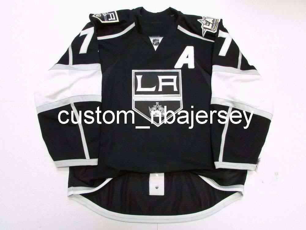 Ricamo Carter Los Angeles Kings Home 50th Anniversary Jersey Uomo personalizzato Hockey Jersey Aggiungi qualsiasi nome Nome