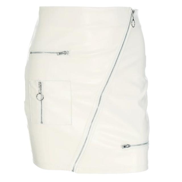 European and American Style Sexy Leather High waist skirts, hip pack slim version super-a bottom casual skirt