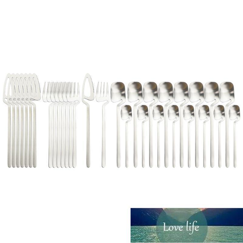 New 32Pcs Flatware Silverware Set 18 10 Stainless Steel Dinnerware Knives Forks Spoon Dinner Tableware Bar Party Cutlery Set Factory price expert design Quality