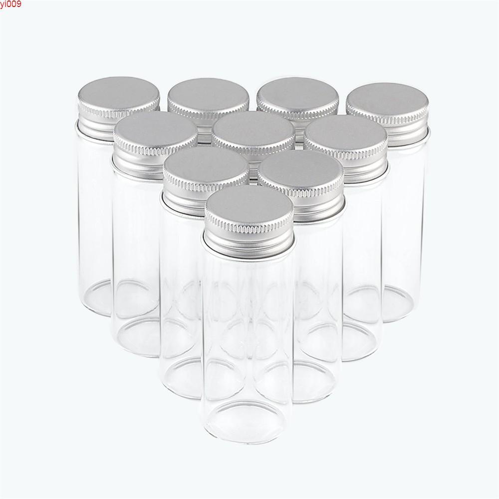 30x80 ملليمتر 40 ملليلتر زجاج زجاجة الألومنيوم المسمار كاب فارغة واضحة هدية نكهة الغذاء الشاي عرق السوس الحلوى الزعفران الجرار 24pcsjars