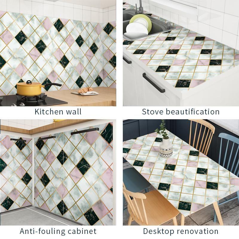 Wallpapers 300cm Aluminum Coating Waterproof Modern Living Room Furniture Desktop Self Adhesive Contact Paper Home Decor GWD8280