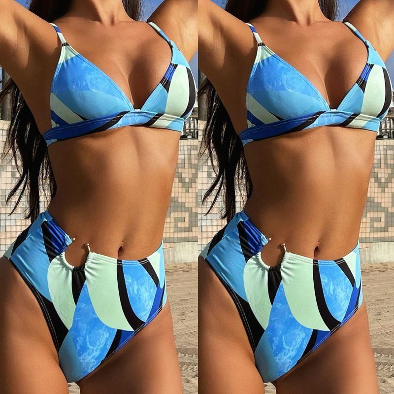حمام بحر المرأة سيدة مثير يحتوي على لوحة الصدر الصلبة بيكيني مجموعة اثنان قطعة ملابس السباحة biquini 2021 جديد fashionista