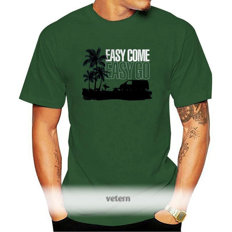 Easy Come Go T4 Campervan T-Shirt - Transporter Geschenk für ihn DAD Funny Tops T-Shirts von unisex hoher Qualität Männer T-Shirts