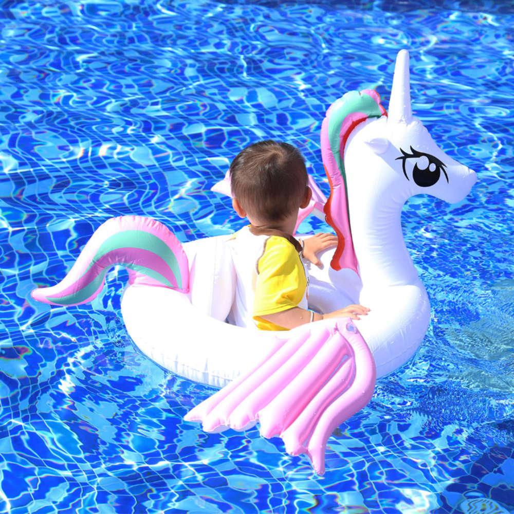 Vendite di seggiolino gonfiabile, cerchio di nuoto infantile, PVC ala colorata bambino hot primavera lifebuoy, unicorno