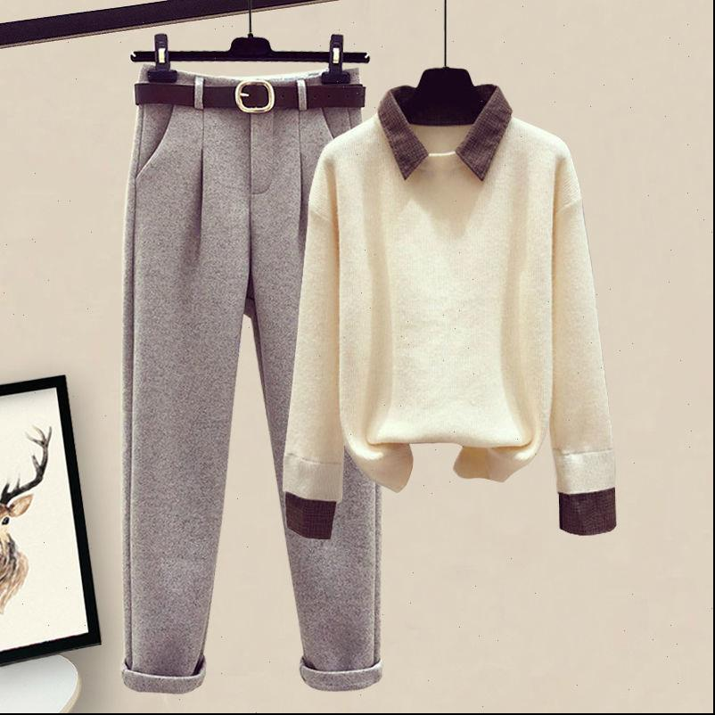 Clothing Autumn Winter Suit Early Womenpant Small Fresh Two piece Set