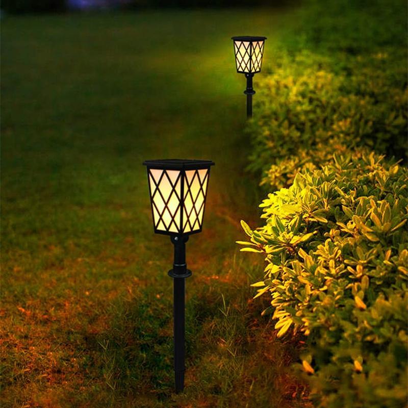 Luz de jardim solar chamas flames tochas luzes crepúsculo para amanhecer Auto On / Off Lâmpada de segurança para parede de entrada de pátio
